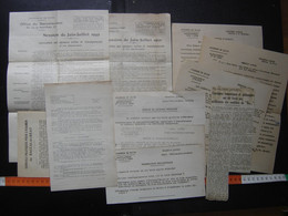 LOT De Papiers Sur Le BAC BACCALAUREAT De 1949 Academie De DIJON 1950 Ecole - Diploma & School Reports