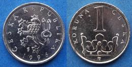 CZECH REPUBLIC - 1 Koruna 1996 KM# 7 Republic Since 1993 - Edelweiss Coins - Czech Republic