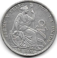 Peru 1/2 Sol  1929  Km 216   Vf+ - Perú