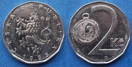CZECH REPUBLIC - 2 Koruny 1995 KM# 7 Republic Since 1993 - Edelweiss Coins - Czech Republic