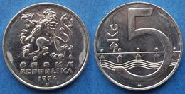 CZECH REPUBLIC - 5 Korun 1994 KM# 8 Republic Since 1993 - Edelweiss Coins - Czech Republic