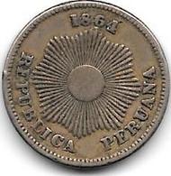 *peru 1 Centavo 1864  Km 187.1   Vf+ - Peru