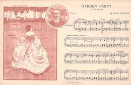 Musique - Partition - Garden Party, Valse Lente Pour Piano Par Alfred MARGIS - A Madame Marcel Trèves - Illustration - Singers & Musicians