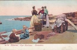 PALERMO-TIPI SICILIANI-LAVANDAIE-CARTOLINA NON VIAGGIATA-1900-1904 - Palermo