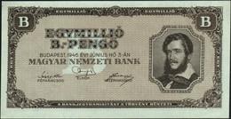 ♛ HUNGARY - 1.000.000 B.-Pengo 03.06.1946 {Magyar Nemzeti Bank} AU-UNC P.134 - Hungary