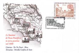 VATICANO 2012 CISTERNA DI LATINA POSTE PONTIFICIE IN TERRA PONTINA CARROZZA CON CAVALLI Annullo Busta Dedicata - Post