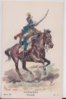 Dessin Litho Hussards Consulat Emire Hussard Cavalerie Uniforme Militaire Toussaint Illustrateur Les Editions Militaires - Uniformen