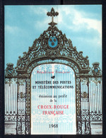 France Carnet 1968 Yvert 2017 ** TB - Cruz Roja