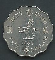 Piece  HONG KONG 2 DOLLARS 1982  Tb  - Pic 5101 - Hong Kong