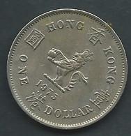 Piece Hong Kong   One  -  1 Dollar 1975   - Pic 5108 - Hong Kong