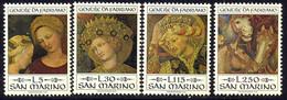 Saint-Marin 1973 Yvert 861 / 864 ** TB Coin De Feuille - Unused Stamps