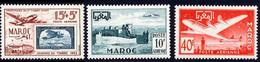 Maroc PA 1952 Yvert 84 / 86 ** TB - Airmail