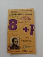 Abonnement Annuel Des Omnibus Et Tramways De Lyon 1943-1944 Robert Michel - Other