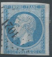 Lot N°60474    N°14B, Oblit PC 1021 Crécy-en-Ponthieu, Somme (76), Ind 7 - 1853-1860 Napoleon III