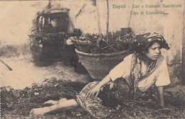 NAPOLI-TIPI E COSTUMI NAPOLETANI-TIPO DI CONTADINA-CARTOLINA NON VIAGGIATA -1910-1920 - Napoli (Naples)