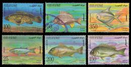KUWAIT 1997-Marine Life, Fish, Set Of 6, Used, S.G. 1498-1503-Cat £ 16- - Kuwait