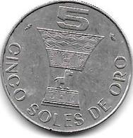 *peru 5 Soles  1969  Km 252  Xf+ - Peru