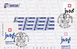 Enveloppe Banque Bacob 2703 Sport Judo + Vignette Cinderella ? Oostende - Storia Postale