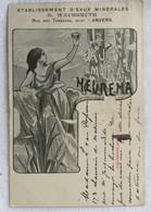 Établissements D'eaux Minérales- Wachsmuth- Anvers-illustrateur -cachet 1904-585 - Publicidad