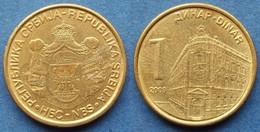 "SERBIA - 1 Dinar 2009 ""National Bank"" KM# 39 Republic (2003) - Edelweiss Coins - Serbia"