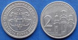 "SERBIA - 2 Dinara 2003 ""Gracanica Monastery"" KM# 35 - Edelweiss Coins - Serbia"