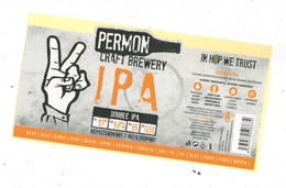 Czech Republic - Minibrewery Permon In City Sokolov, IPA Beer, Self-adhesive - Birra