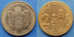 "SERBIA - 2 Dinara 2009 ""Gracanica Monastery"" KM# 46 Republic - Edelweiss Coins - Serbia"