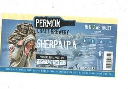 Czech Republic - Minibrewery Permon In City Sokolov, Sherpa IPA Beer, Self-adhesive - Birra