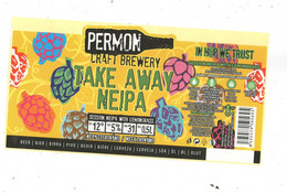 Czech Republic - Minibrewery Permon In City Sokolov, Tak Away NoIPA Beer, Self-adhesive - Birra