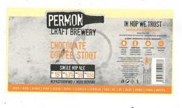 Czech Republic - Minibrewery Permon In City Sokolov, Chocholate Staut Beer, Self-adhesive - Birra
