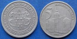 "SERBIA - 5 Dinara 2003 ""Krusedol Monastery"" KM# 36 Republic - Edelweiss Coins - Serbia"