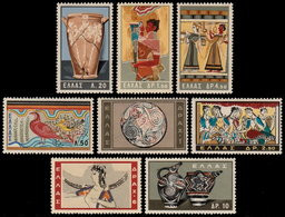 ✔️ Greece 1961 - Minoan Art - Mi. 765/772 ** MNH - € 40.00 - Nuovi