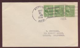 USA Brief MEF Aurum 4-Bar Handstempel Nach Oakland California 31.5.1938 - Unclassified