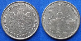 "SERBIA - 5 Dinara 2007 ""Krusedol Monastery"" KM# 40 Republic - Edelweiss Coins - Serbia"