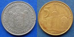 "SERBIA - 5 Dinara 2008 ""Krusedol Monastery"" KM# 40 - Edelweiss Coins - Serbia"
