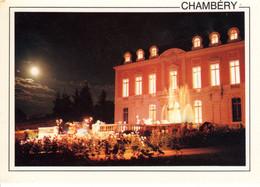 73 Savoie Chambery Chateau De Buisson Rond Nuit Fontaine Lumiere Batiment Edifice Histoire Patrimoine - Chambery