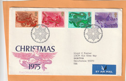 Great Britain 1975 FDC Mailed - 1971-1980 Dezimalausgaben