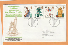 Great Britain 1976 FDC Mailed - 1971-1980 Dezimalausgaben