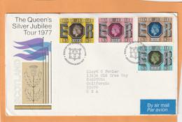 Great Britain 1977 FDC Mailed - 1971-1980 Dezimalausgaben