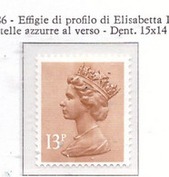 PIA - GRAN BRETAGNA - 1983 : Serie Corrente - Effigie  Della Regina  Elisabetta II  -  (Yv  1140c) - Ungebraucht