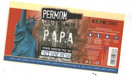 Czech Republic - Minibrewery Permon In City Sokolov, P.A.P.A, Beer ,  Self-adhesive - Birra