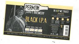 Czech Republic - Minibrewery Permon In City Sokolov, Black IPA Beer ,  Self-adhesive - Birra