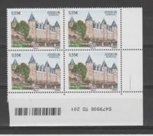 """FRANCE / 2008 / Y&T N° 4281 ** : """"Touristique"""" (Château De Josselin - Morbihan) X 4 - Coin Non Daté - TD 201 & N° Feuill - 2000-2009"""
