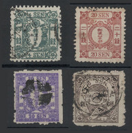 4 Francobolli Giappone - Used Stamps