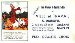 "V A/13/04 Buvard ""Vétement ""A. Amrofel "" (Format 155 Mm X 90 Mm) (N=1) - Textile & Clothing"