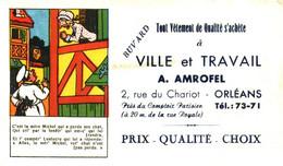 "V A/13/04 Buvard ""Vétement ""A. Amrofel "" (Format 155 Mm X 90 Mm) (N=2) - Textile & Clothing"