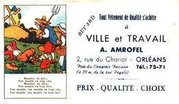"V A/13/04 Buvard ""Vétement ""A. Amrofel "" (Format 155 Mm X 90 Mm) (N=3) - Textile & Clothing"