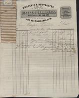 Facture + échantillons Tissus Draperie & Nouveautés Châles Siscal & Carbonell Perpignan 24 5 1870 Pyrénées-Orientales - 1800 – 1899