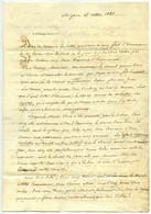Lettre 1843. Sosthène De Centenier, Pernes. Vente D'un Cheval Qui Présenterait Des Molettes Et Des Capelets. Vétérinaire - Manuscripts