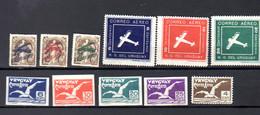 Séries Aériennes  1 / 6 + 10 / 13 + 26*, Cote 57 €, - Uruguay